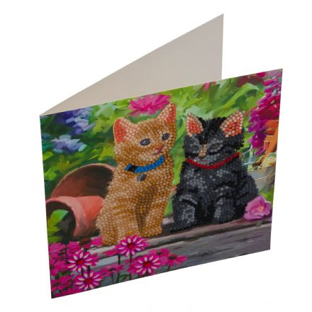 Crystal Art D.I.Y Card kit Cat Friends